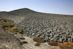 泥火山在巴库附近的Lokbatan 阿塞拜疆 图库摄影