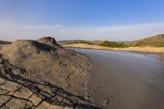 泥火山,罗马尼亚 库存图片
