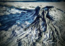 泥火山 库存照片