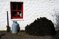 泥煤块 库存照片