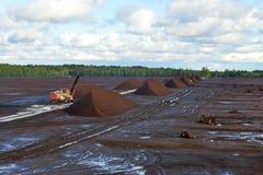 泥煤提取 库存图片
