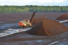 泥煤提取 免版税库存照片