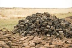 泥煤 库存照片