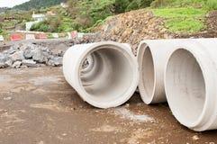水泥管子 库存图片