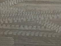 水泥粉末和轮子轨道 免版税库存图片