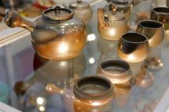 泥罐用于烹调中医 免版税图库摄影