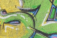 水泥街道画墙壁 库存照片