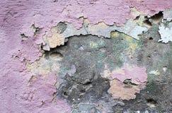 水泥被绘的墙壁 免版税库存图片