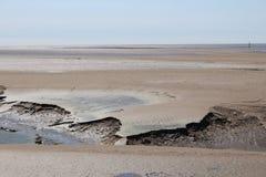 泥风景看法在Morecombe海湾的 库存照片