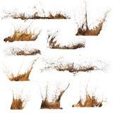 泥飞溅 库存照片