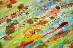 泥,蜡,绿色橙色颜色,蜡状的抽象背景 库存照片
