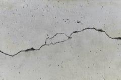 水泥破裂的墙壁 图库摄影