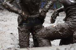 泥浴 图库摄影