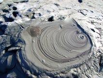 泥Vulcanoes在Buzau,罗马尼亚 免版税库存图片