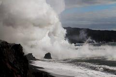 从熔岩的蒸汽 免版税库存照片