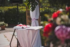 注册婚礼地方1610 库存照片