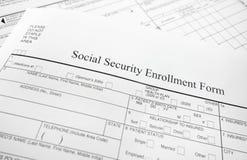 注册形式 免版税库存图片