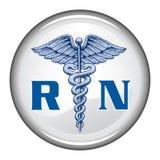 注册护士按钮 库存图片