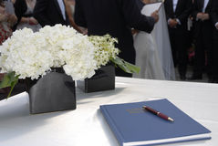注册表婚礼 图库摄影