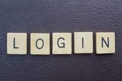注册词-词条到在互联网上的网站 免版税库存照片