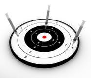 注射器目标 库存照片