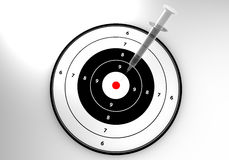 注射器目标 免版税库存图片