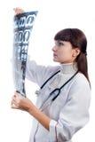 注意一个耐心的X-射线的医生在医院 库存图片