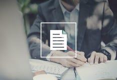 注意便条垫通知消息写概念 免版税库存图片