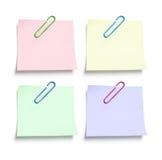 注意回形针纸张过帐 库存图片
