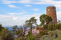 注意塔在沙漠视图,大峡谷 免版税库存照片
