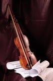 注意小提琴 库存照片