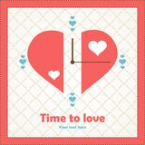 注意我的关于爱的意思情人节。 免版税库存照片