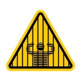 注意监狱 小心监狱 黄色路标 警告的Crimin 向量例证