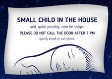 注意睡眠小孩子 免版税库存图片