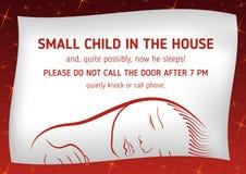 注意睡眠小孩子 库存图片