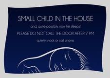 注意睡眠小孩子 图库摄影