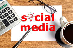注意社会媒体 免版税库存图片