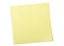 注意粘性黄色 库存照片