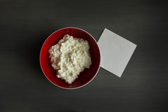 注意酸奶干酪 免版税库存照片