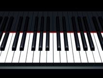 注意钢琴 免版税库存图片