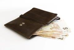 注意钱包 库存图片