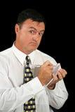 注意销售人员采取 免版税库存图片