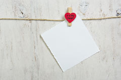注意附加的红色心脏 免版税库存图片