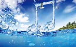 注意水 免版税库存照片