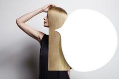 注意buuble理想的头发的 图库摄影