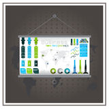 注标地图货币货币业务infographic平面传染媒介 免版税图库摄影