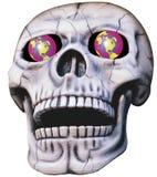 注视发光的头骨 免版税图库摄影