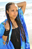 注视海洋妇女 免版税图库摄影