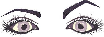 注视紫色 向量例证