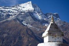 注视stupa 免版税库存图片